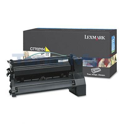 LEXMARK C770 PRINT CART YELLOW 10K